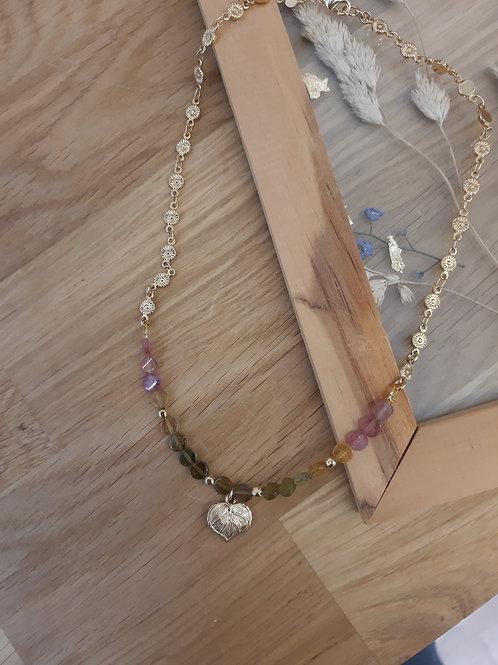 collier Gaïa tourmaline (pièce unique)
