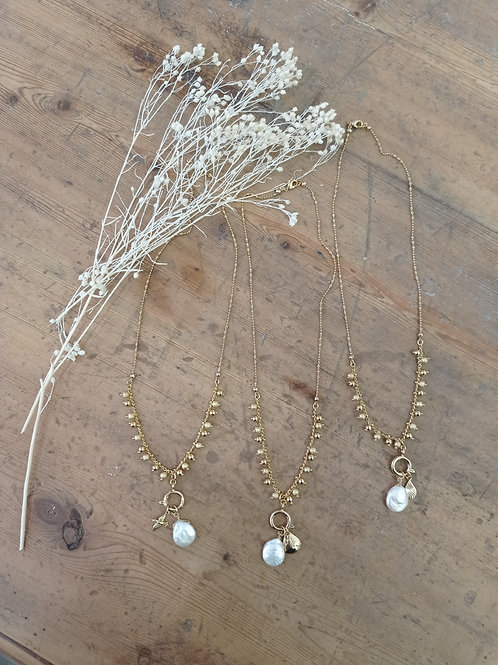 Collier VOYAGE perles d'eau douce