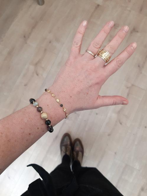 Bracelet NAMASTE tourmaline diamanté