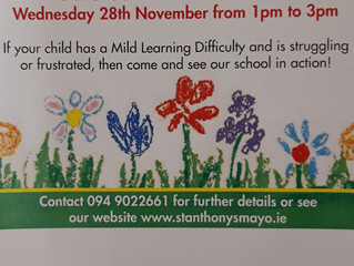 ANNUAL OPEN DAY WED 28TH NOVEMBER. ALL WELCOME