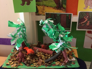 "Primary 2 read ""The Gruffalo"" and made some fantastic art work to accompany the story. It"