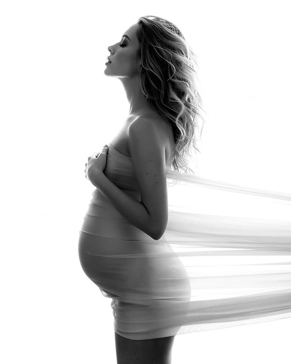 Maternity silhouette photography