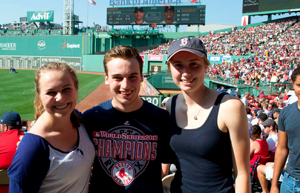 UMF students at a Red Soxs game