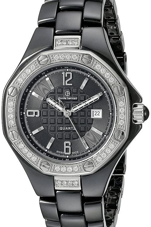 Reloj Claude Bernard Mujer Con Cristales Swarovski C54002