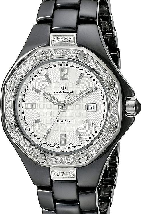 Reloj Claude Bernard Mujer Con Cristales Swarovski C54002NB