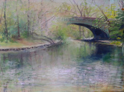 Early Spring Reflection of Bridge,
