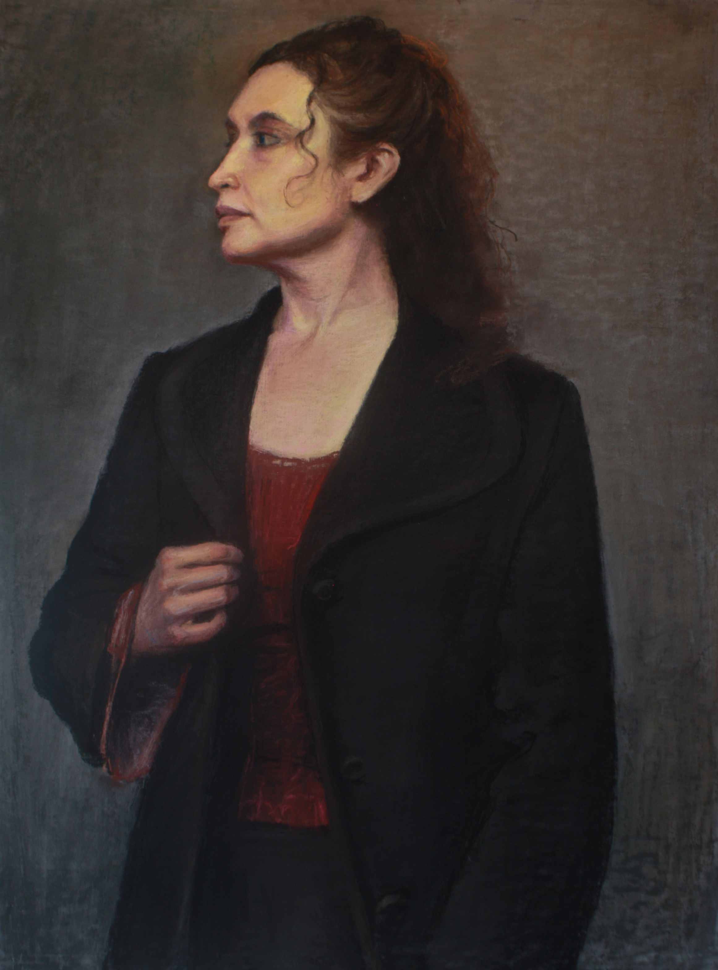 Woman in Black Coat