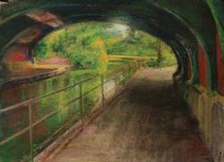 Under Pass June Reflection Bridge