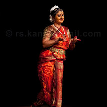 A Bharatanatyam dance performance