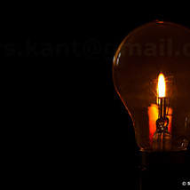 The candle and the bulb