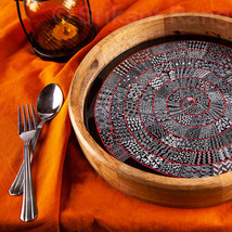 Tray with African Tribal Art