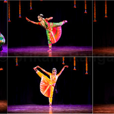 A Bharatanatyam dance performance
