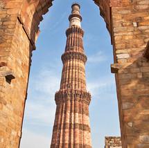 Qutub Minar framed