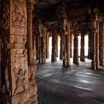 Pillars of Raghunatha Temple mantap