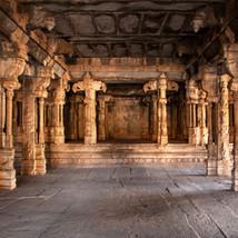 Mantap in Raghunatha temple in Malyavanta hill, Hampi.