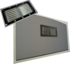 Acrylic washboards with vent