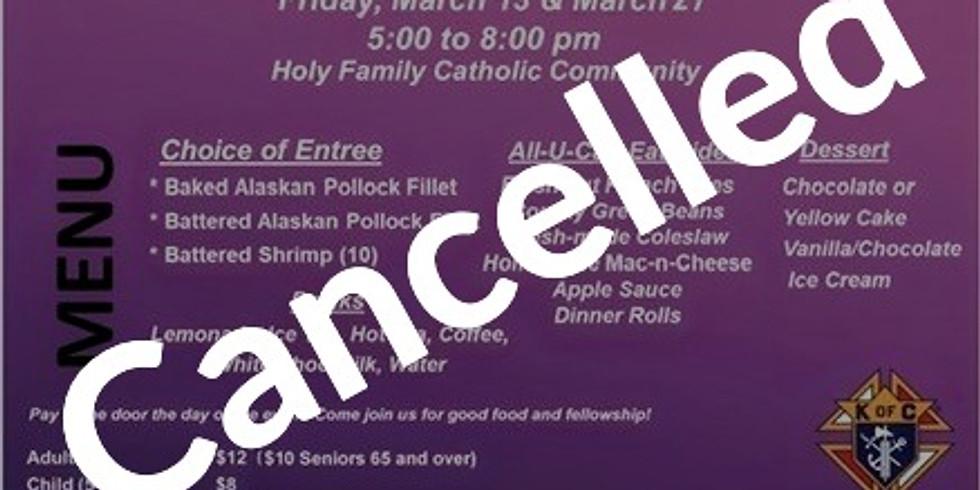 CANCELLED Lenten Fish Dinner