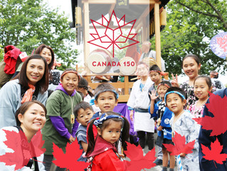 Parents who are going to participate in the Canadian Day Parade (CDP) with their children.