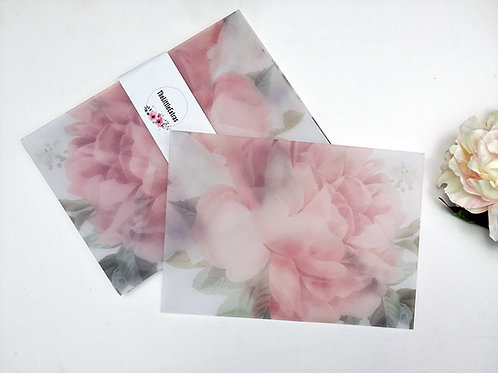 Rose Vellum Envelope