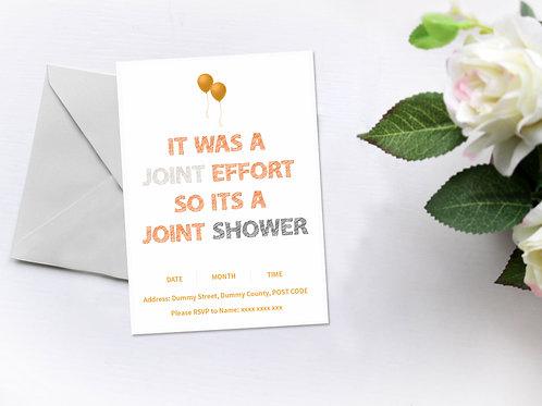 Joint Effort so Joint Shower