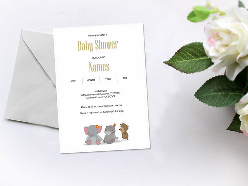 Baby Animals Invitation
