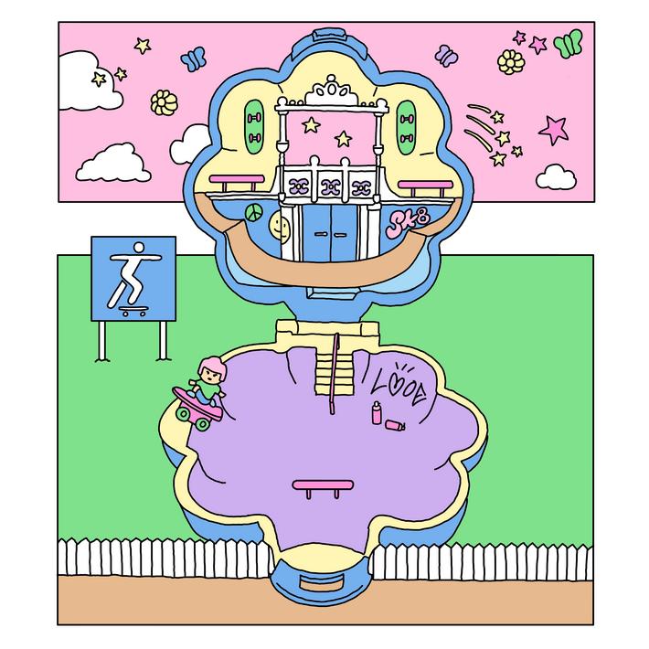 ビンテージTOY風スケートパーク