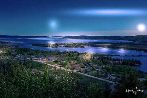 """Lights Over Gambo""   12"" x 18"" print"