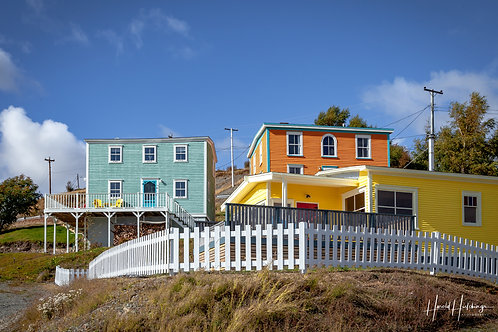 """""""Painted Houses on the Hill"""" 12"""" x 18"""" Print"""