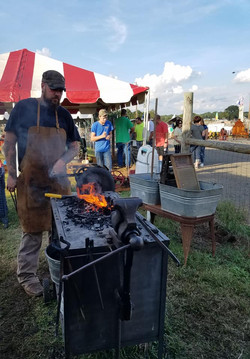 Blacksmith Demonstration at Cleveland County Fair