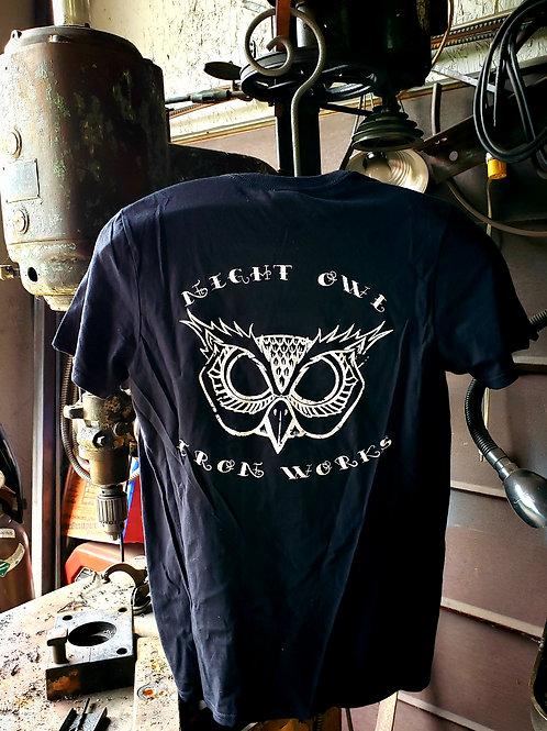 Unisex OG Night Owl Iron Works Black Tee