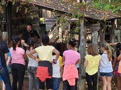 Jordan Demonstrating Blacksmithing at Hartsquare