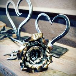 Heart Candle Holders and Rose