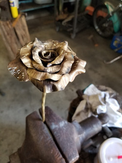 Hand Forged Brass Rose
