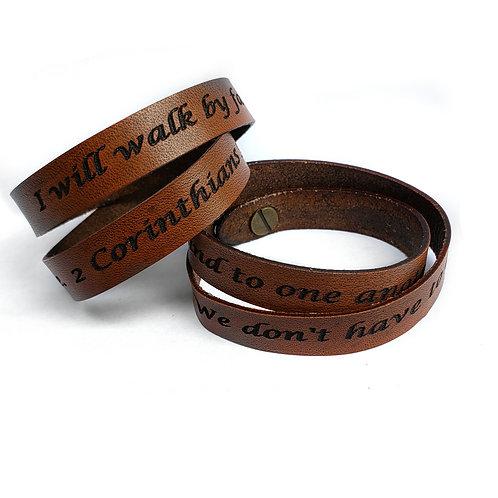 Custom Leather Wrap Bracelet