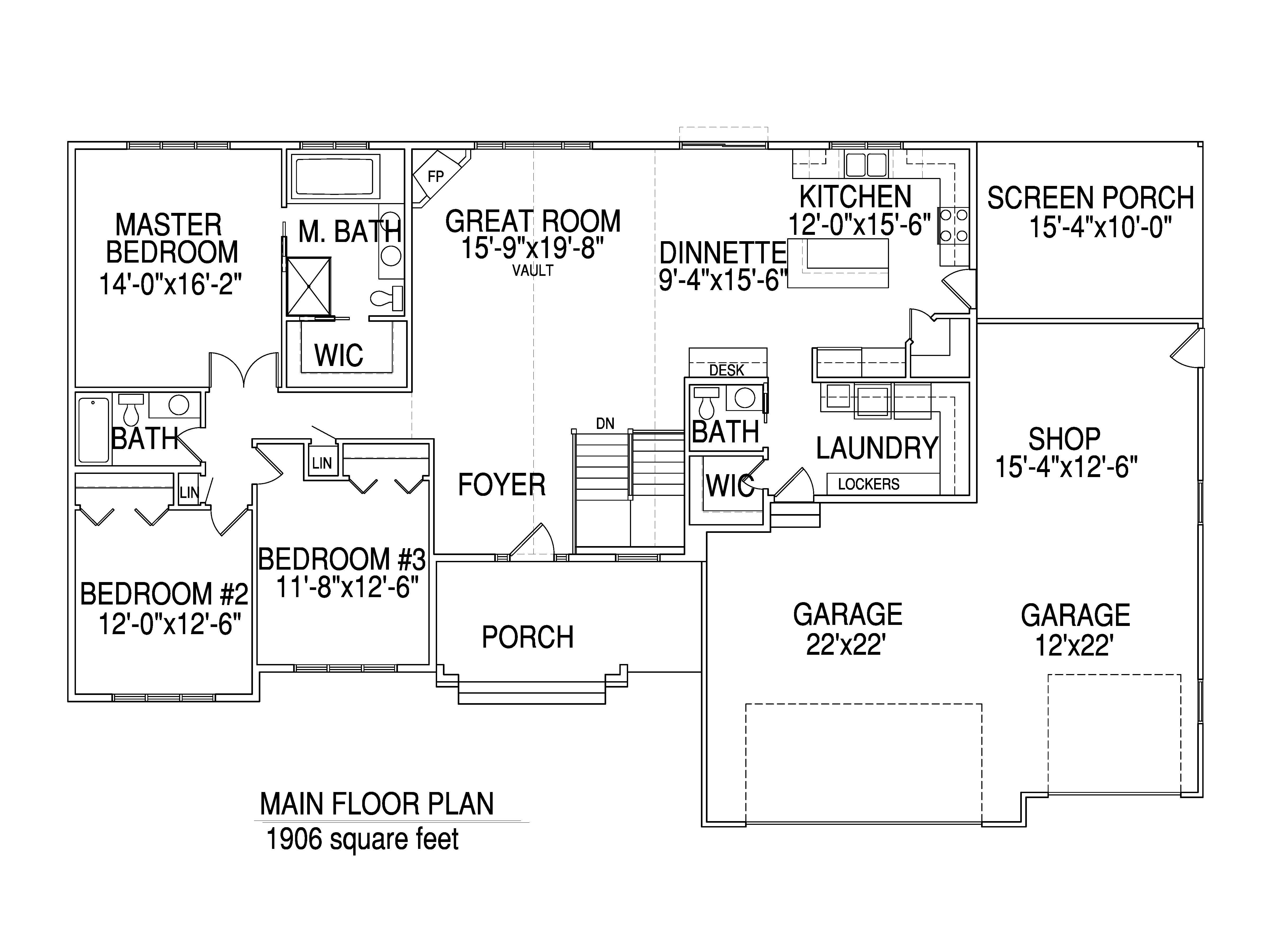 Rambler floorplan The Donovan