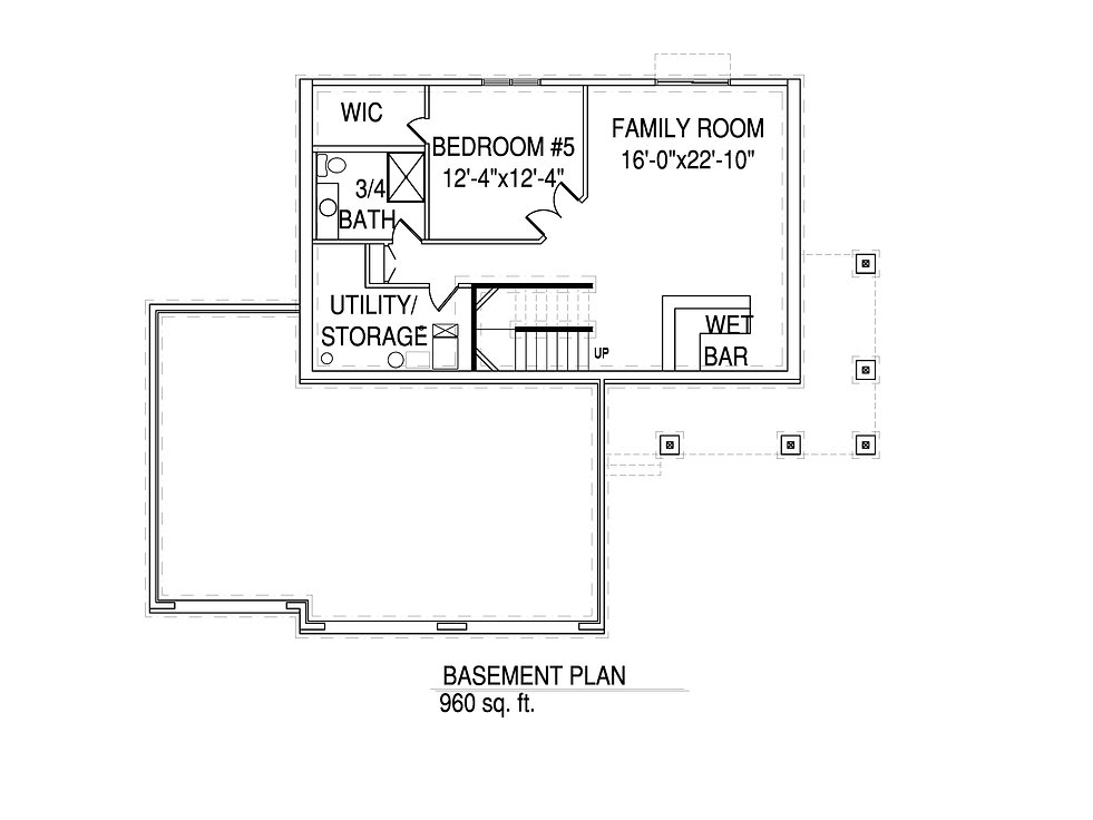 Basement floorplan The Jeanette