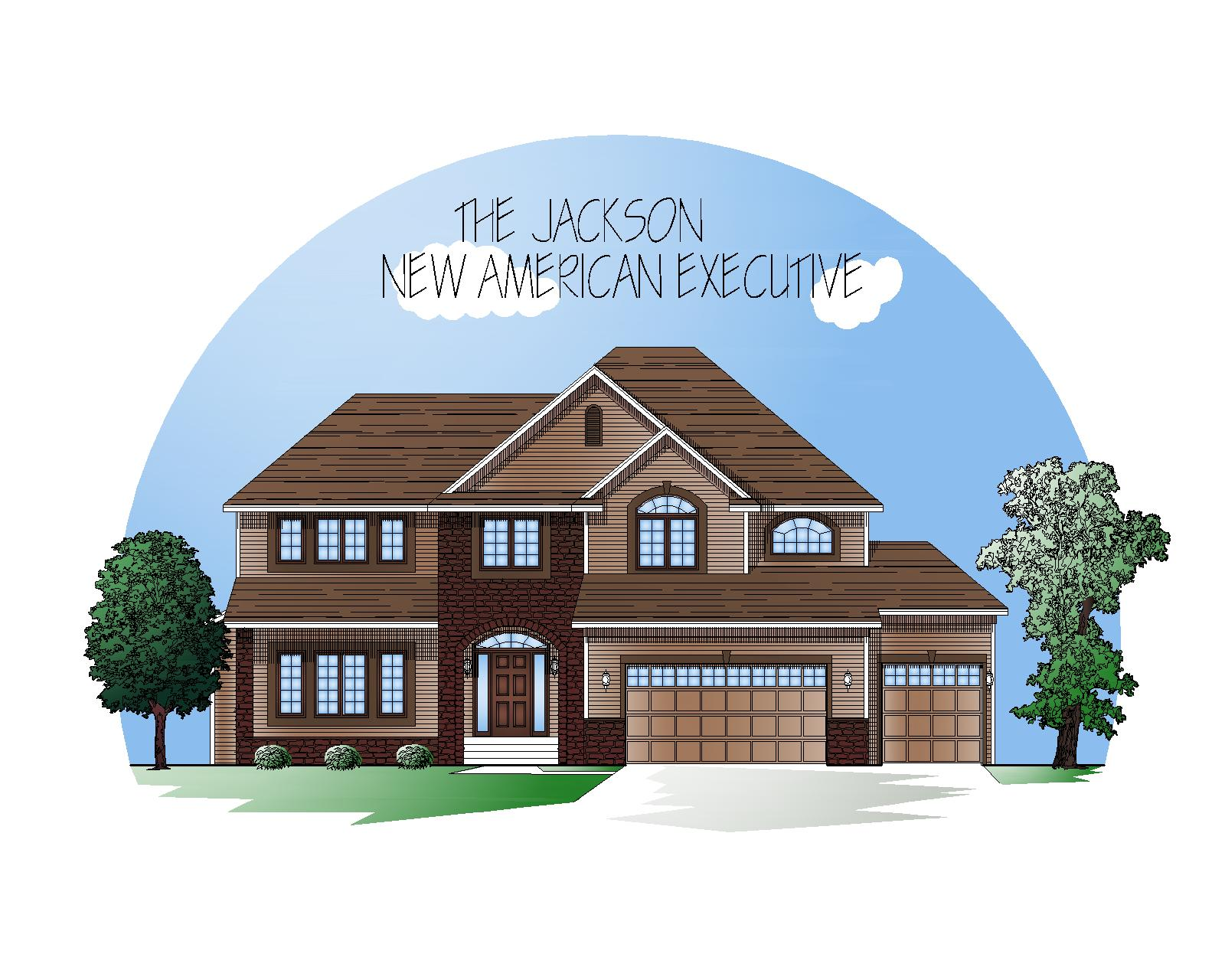 New American exterior style