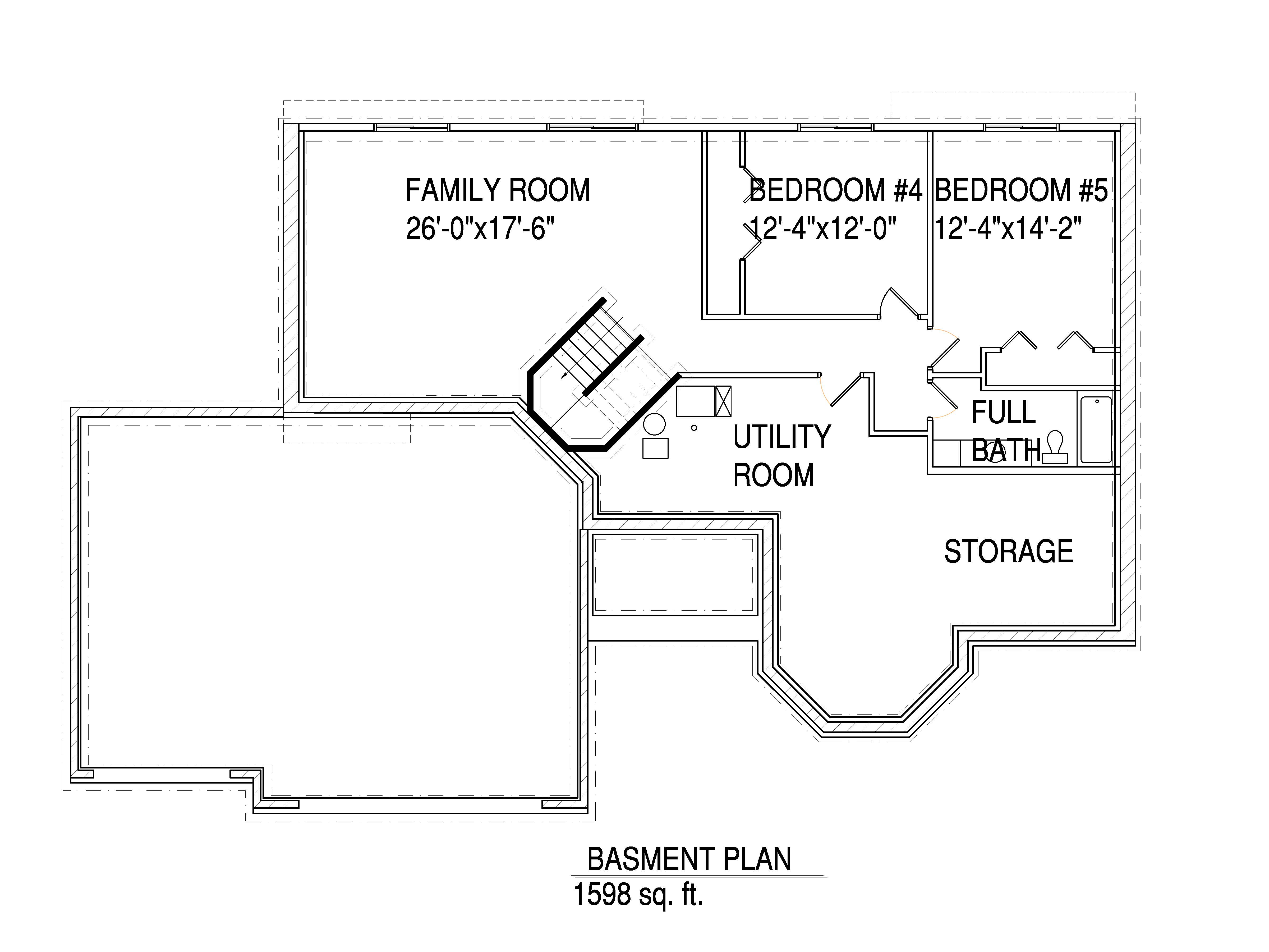 Basment floorplan The Connor
