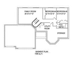 Basment floorplan The Connor