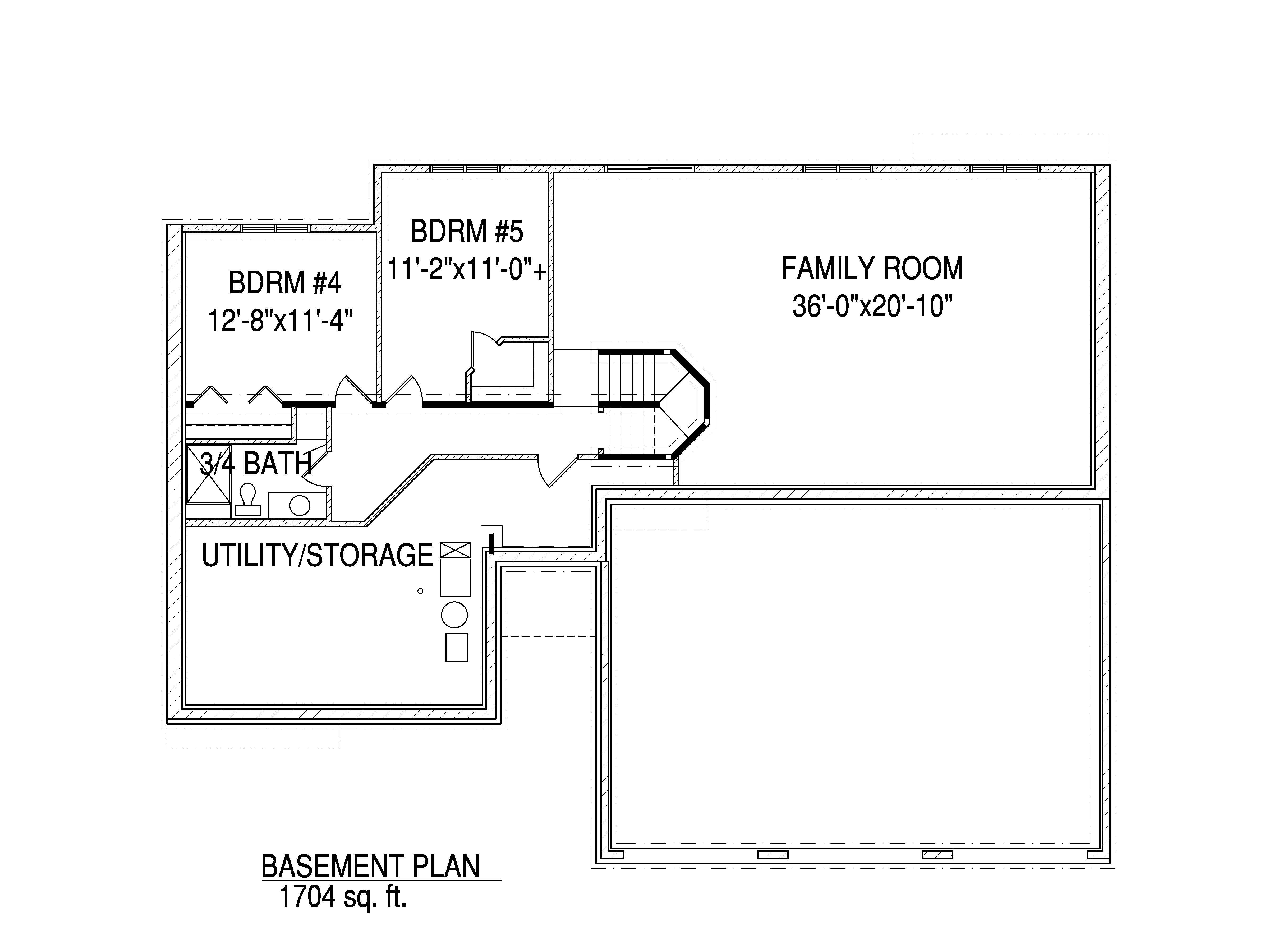 Basement floorplan The Harrison