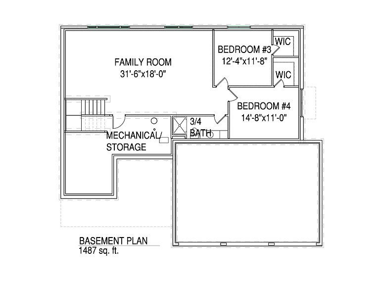 Basment floorplan The Lucy