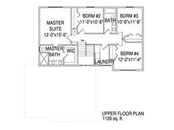Upper floorplan The Drake