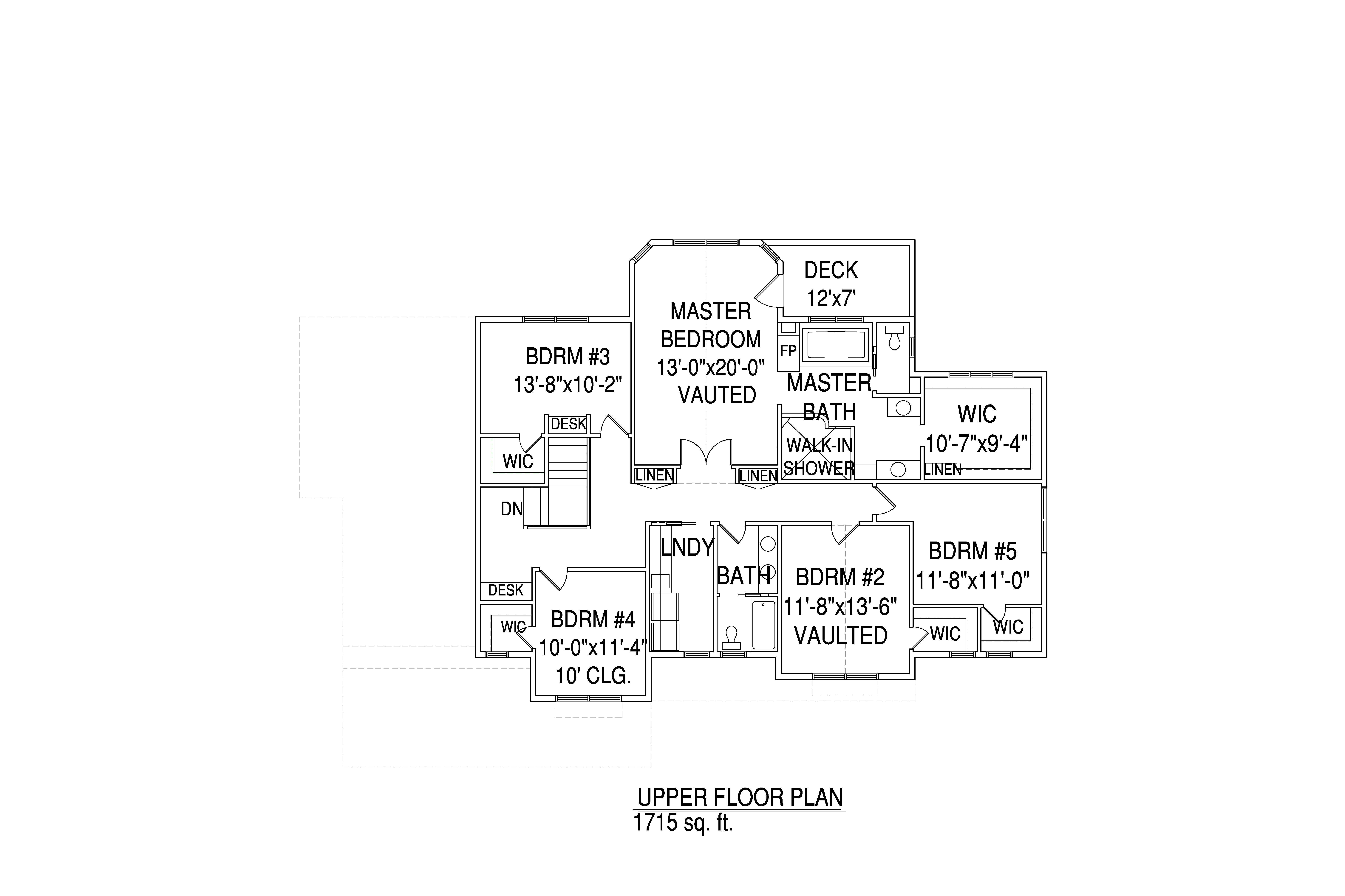 Upper floorplan The Cooper Deluxe