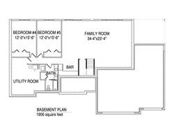 Basement floorplan The Donovan