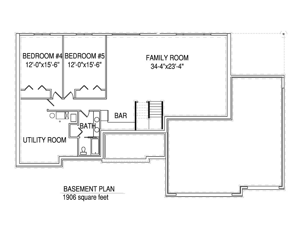 Basement floorplan The Donovan