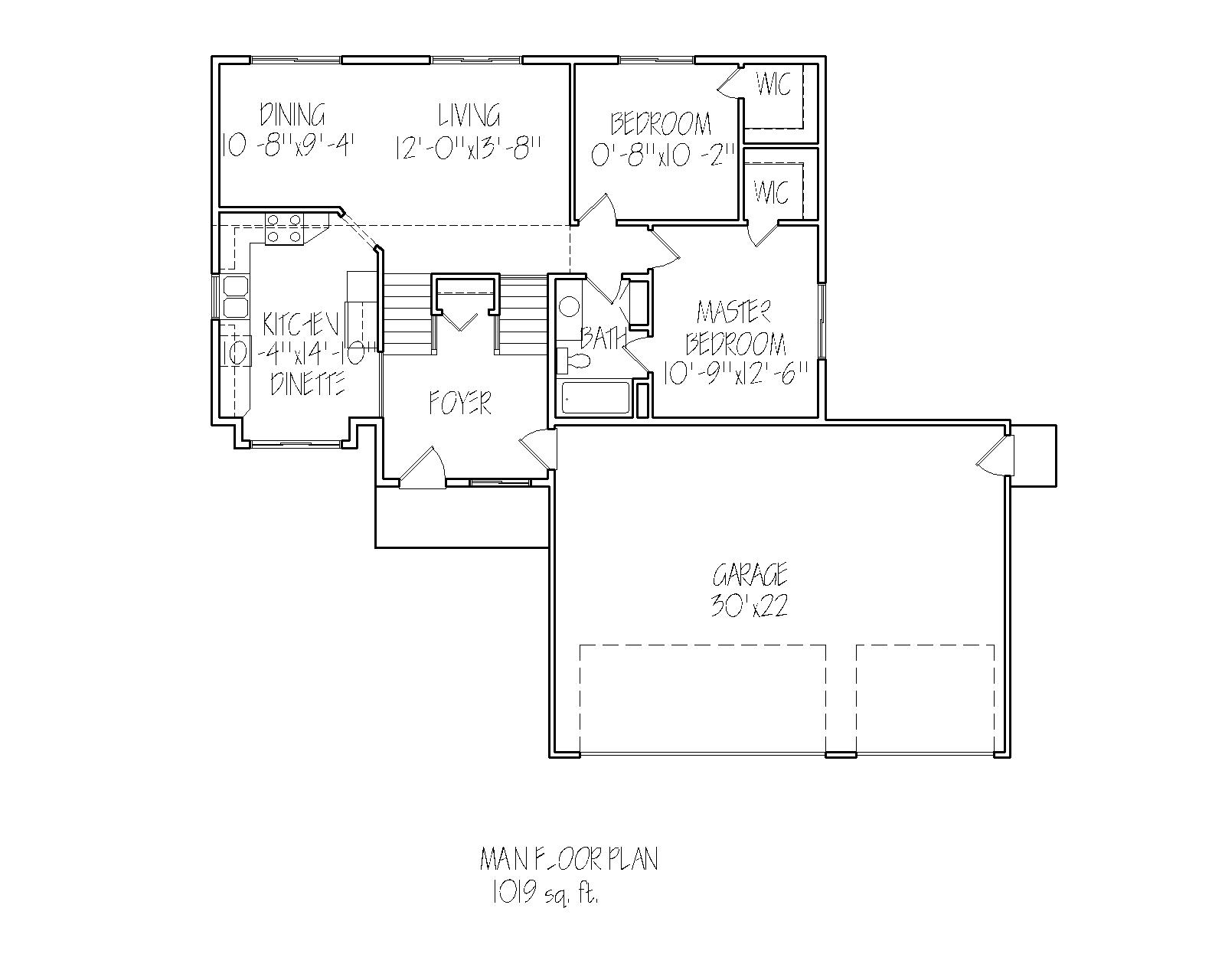 Main floor plan Cameron