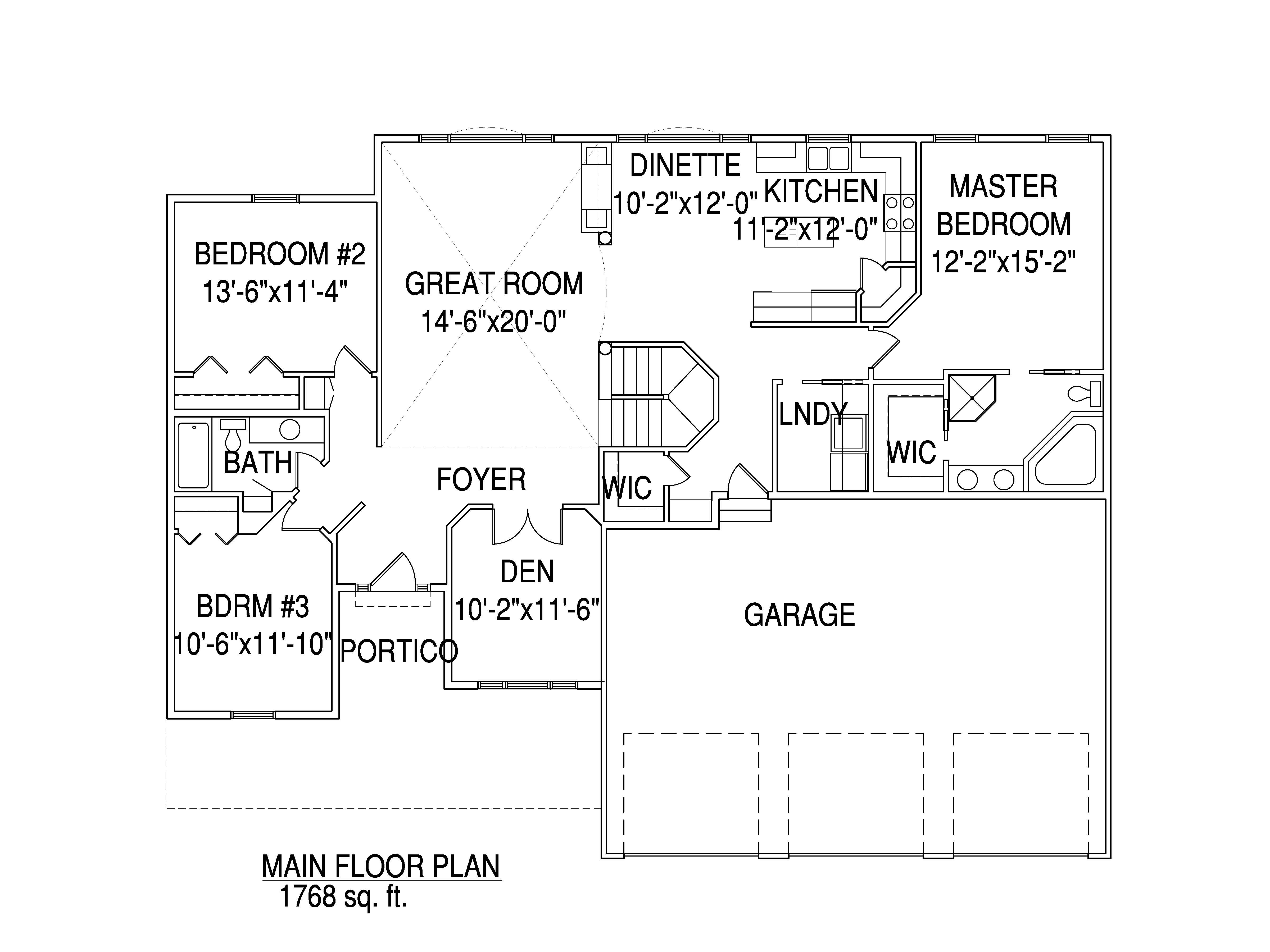 Rambler floorplan The Harrison