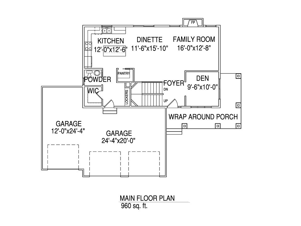 Main floorplan The Jeanette