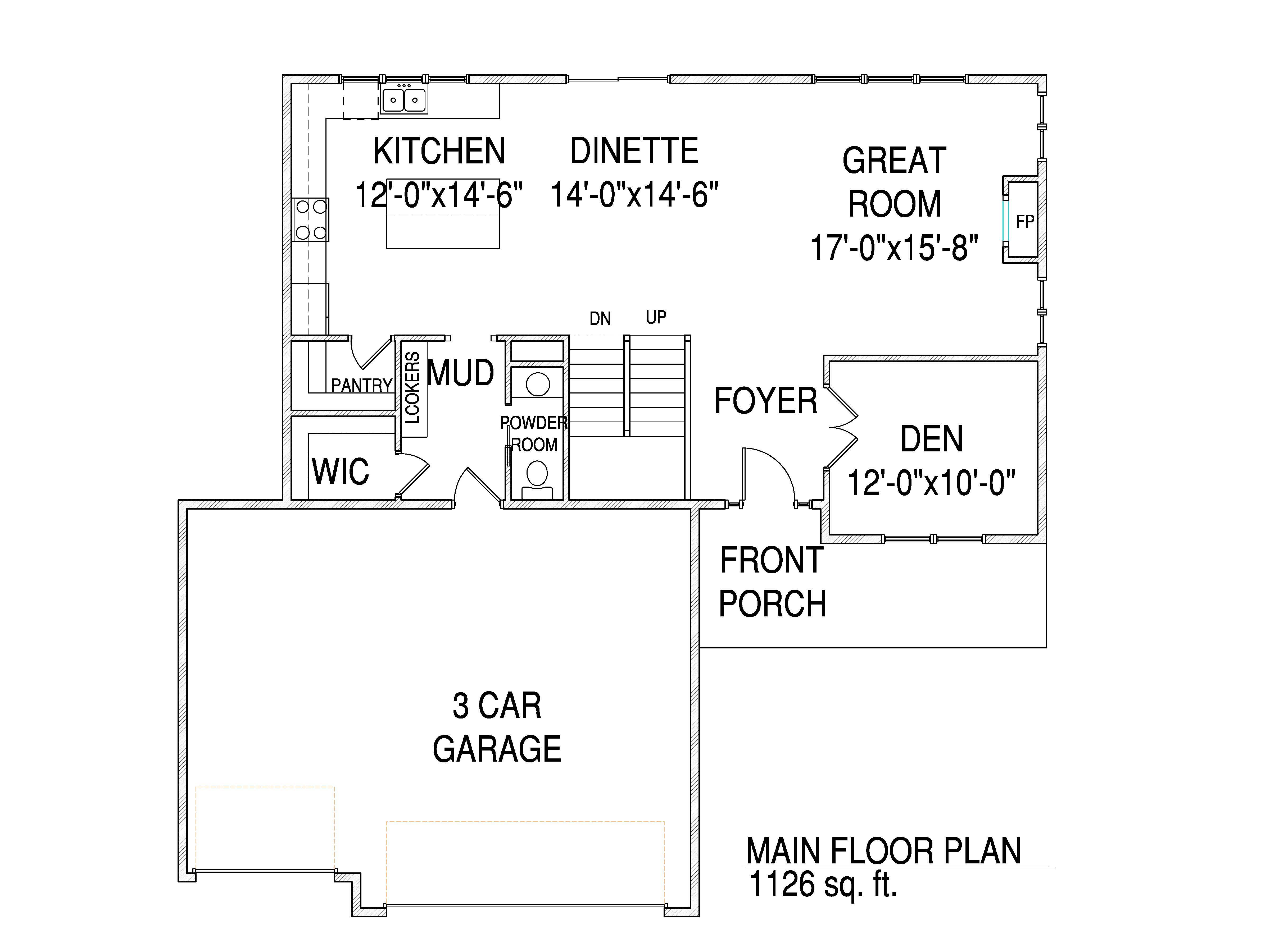 Main floor The Drake