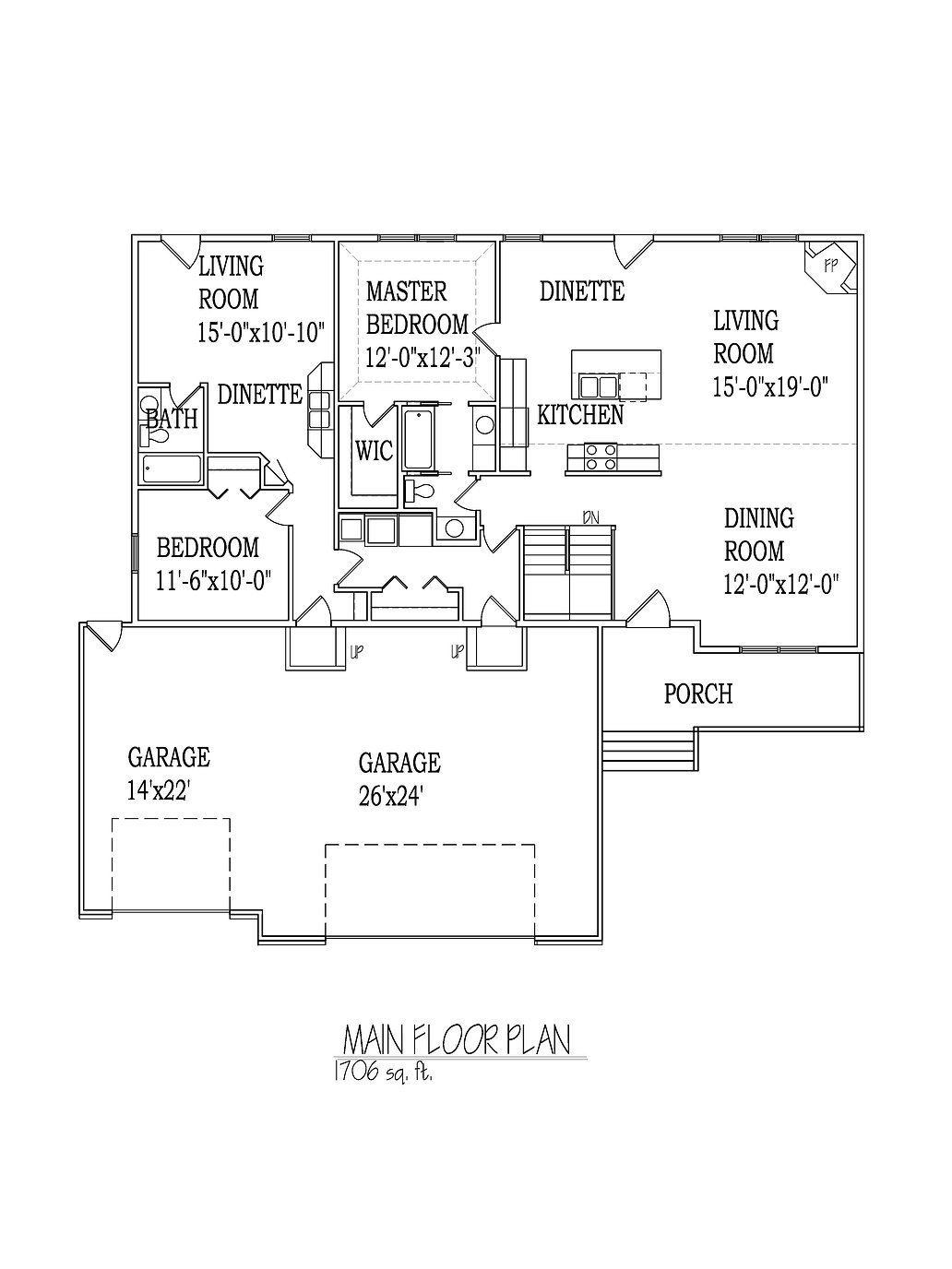 Rambler floorplan Multi-generation